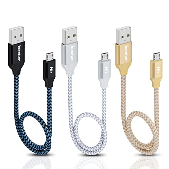 Excellent Amazon Com Short Micro Usb Cable Android Charger Iseekerkit 1Ft Wiring Cloud Usnesfoxcilixyz