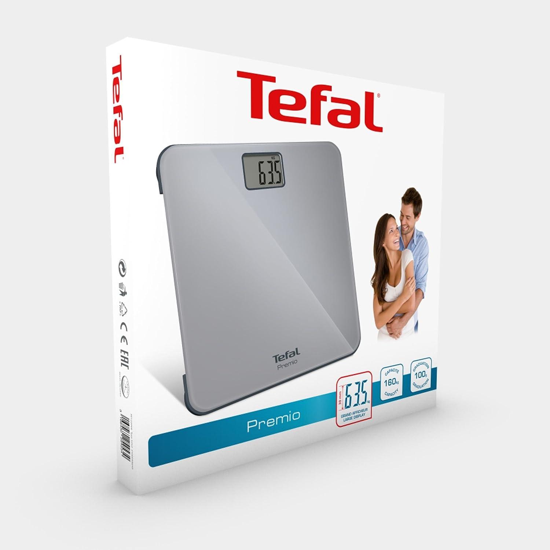 Tefal PP1220 Báscula Personal electrónica Plaza Gris - Báscula de baño (Báscula Personal electrónica, 160 kg, 100 g, kg, LB, ST, Plaza, Gris): Amazon.es: ...