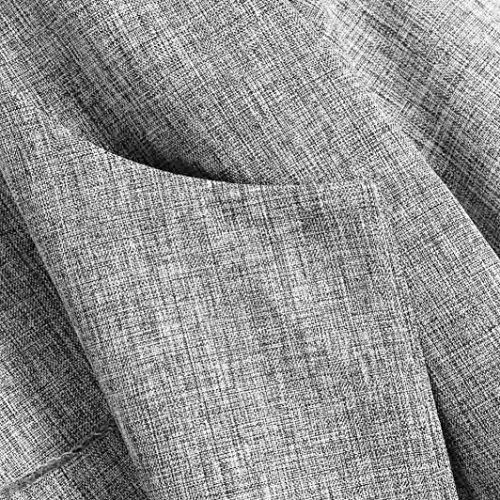 Abierto Mujer Cascada para Poliéster Spandex Abrigo de Grandes de Trenca Gris Claro Larga Capa otoño Abrigo LILICAT Elegante Tallas Chaquetas de Cárdigan 0tgwB