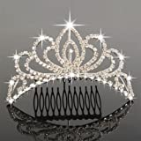 Crazy K&A Charming Rhinestone Tiara Crown Headband Comb Pin