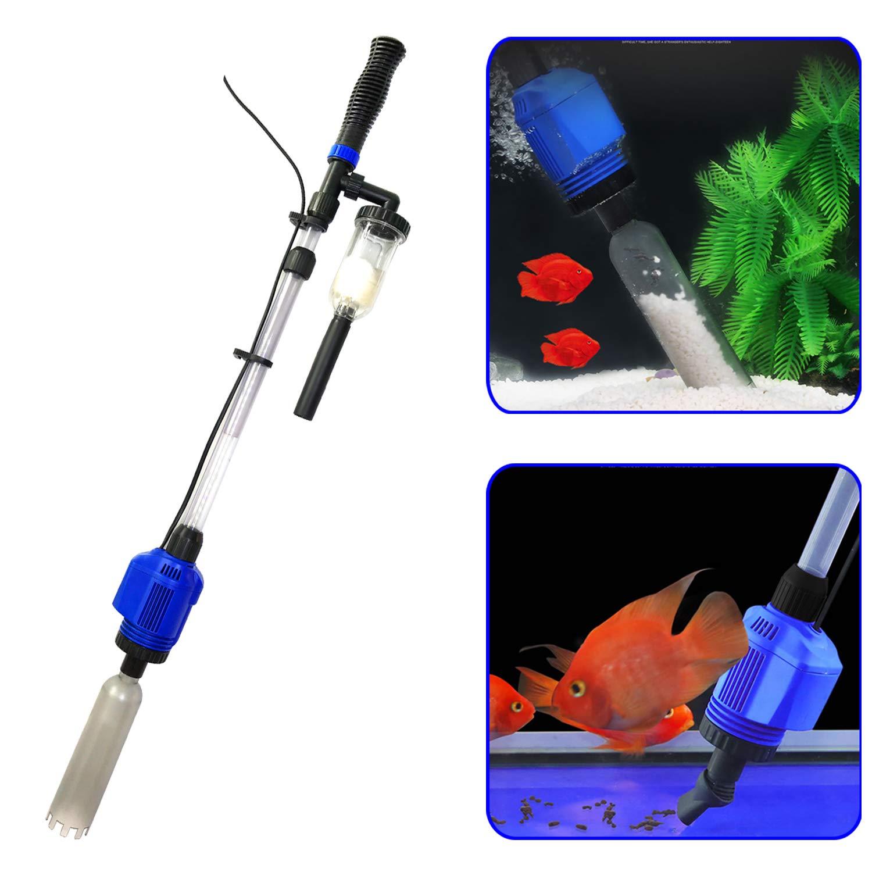 YADICO Electric Aquarium Gravel Cleaner, 3 in 1 Automatic Sludge Extractor for Fish Plant Tanks