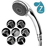 Shower Head Handheld, 7-Mode Function High Pressure Shower Head Filter, Universal Bath Shower Water Saving Spray Handheld Showerheads