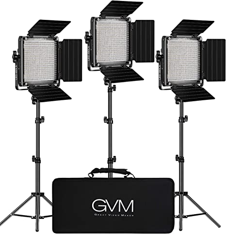 Gvm Led Videoleuchte Mit Stativ App Control 480 Led Kamera
