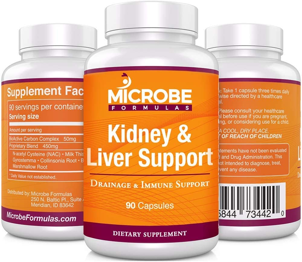 Microbe Formulas Kidney Liver Support – Drainage Immune System Support – 90 Capsules – Supports Healthy Kidney Liver Function – Provides Detox Support – Promotes Improved Bioflow