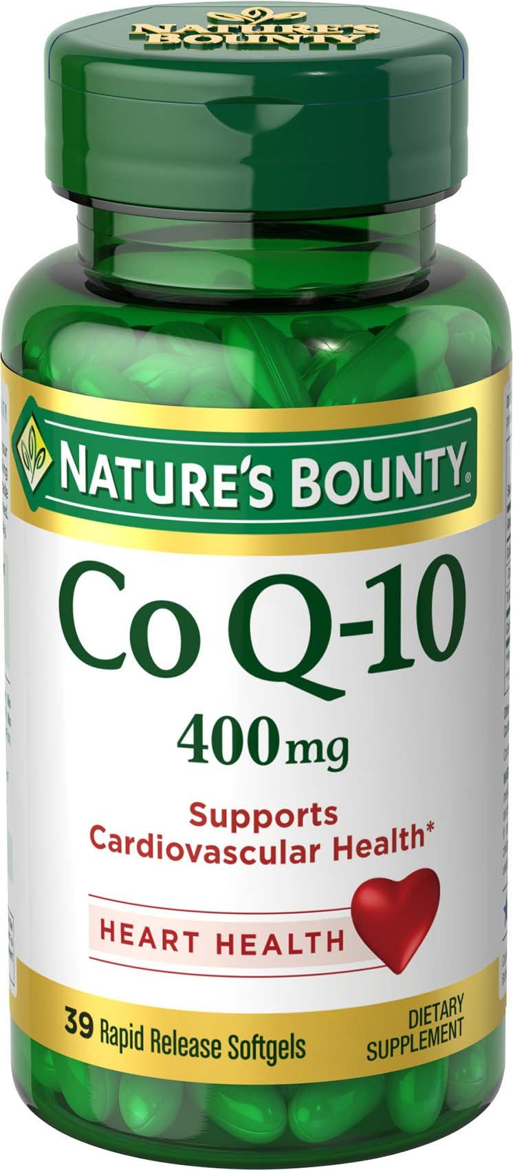 Nature's Bounty Cardio Q10, Co Q-10 400 mg Softgels 39 ea
