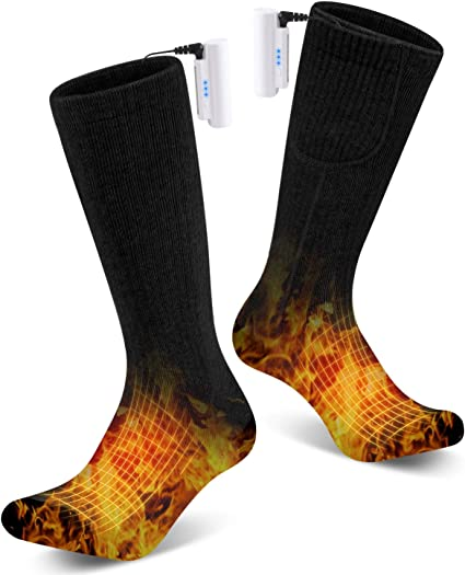 Rechargeable Heating Cotton Socks Winter Sports Outdoor Thermal Sock Heated Socks for Women and Men