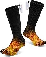 YaNovate Heated Socks Winter Electric Rechargeable 3 Heating Settings Thermal Feet