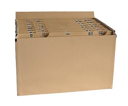 Clasificador de fuelle, compartimentos de planificación mensual (del 1 al 31) y de