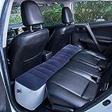 FMS Car Mattress Inflatable Back Seat Gap Pad Air Bed Cushion for Car Travel Camping (Blue)
