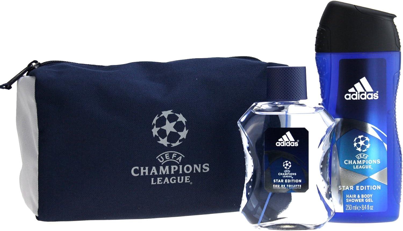 adidas Champions League Set de regalo 100ml EDT + 250ml Gel de Ducha + Neceser