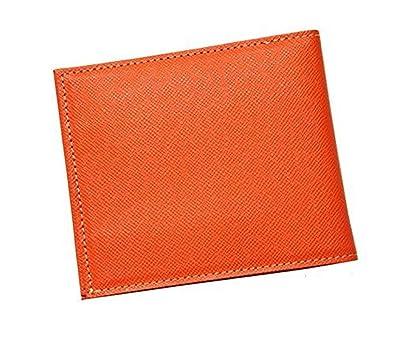 5c65b894df6d FRUH フリュー スマートスリムウォレット GL012L 薄型 二つ折り財布 牛革 日本製 (オレンジ)