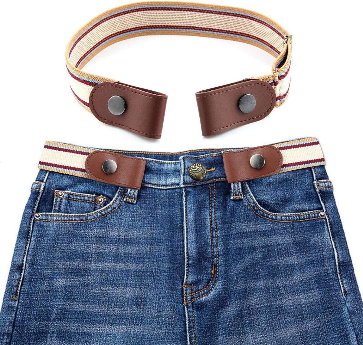 KOBWA cinturón elástico sin Hebilla, para Mujeres, Hombres, niños, Mujeres, sin Hebilla, cinturón elástico para Pantalones Vaqueros, Vestidos, cinturón Invisible, sin bultos, sin complicaciones