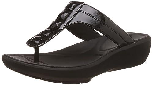 0498aa0d08aa Clarks Women s Wave Pop Black Slippers - 3.5 UK India (36 EU)  Buy ...