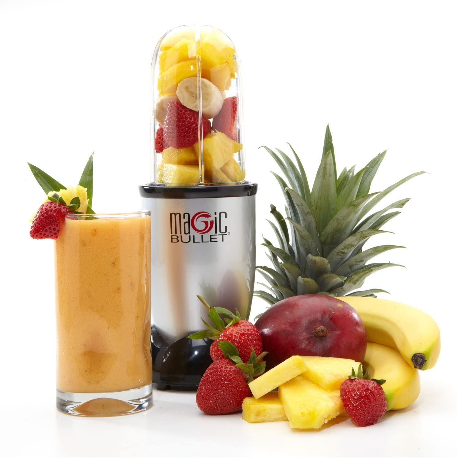 Magic Bullet 17 piece Food Processor - The Original - In 10 seconds or less Chop Mix Blend Whip Grind Mince Make Healthy Smoothies and Nutritious ...