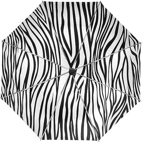 My Daily Zebra In Africa Travel Umbrella Auto Open//Close Lightweight Compact Windproof