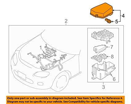 image unavailable  image not available for  color: mazda ne51-66-76yd mx5 nc  main fuse box cover