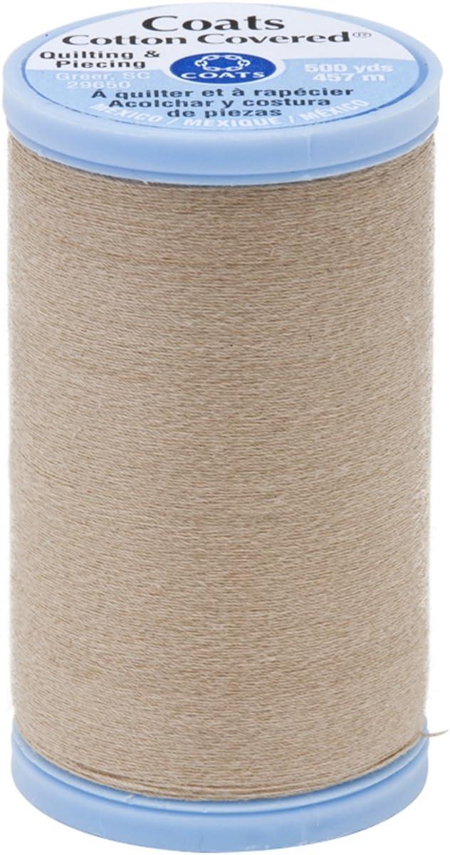 Coats Abrigos algodón Cubierta Patchwork y Rosca, sobrecostura 500-yard, Buff: Amazon.es: Hogar