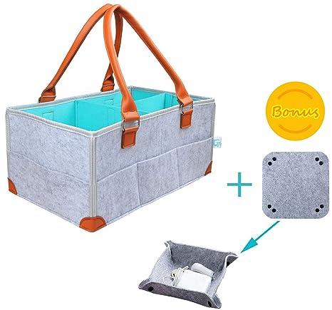 Gelible - Cesto cambiador de pañales para bebé, cesta de regalo para ...