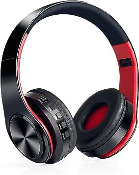 Auriculares Inalámbricos Bluetooth, WolinTek Wireless Over-Ear Headphone con Micrófono & 3,5mm Jack, Ranura para Tarjeta Micro SD/TF, 10 Horas de Tiempo de Juego para Viajes: Amazon.es: Electrónica