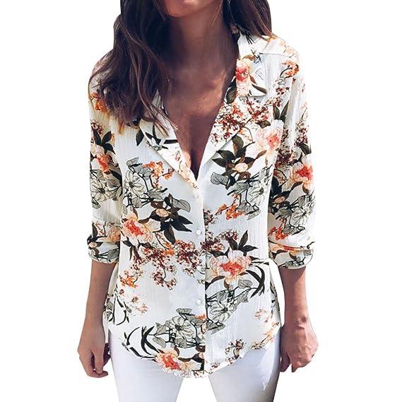 Blusas Mujer, ASHOP Casual Estampado Floral Sudaderas Moda Elegantes Ropa en Oferta Camisetas Manga Larga Tops de Fiesta Abrigos Invierno de Mujer Otoño: ...