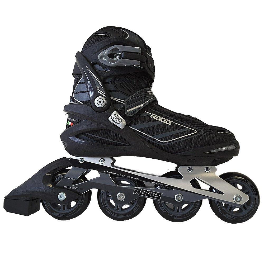 Roces 400799 Men's Model IZI Fitness Inline Skate, US 12, Black/Blue Lime by Roces