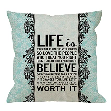 Amazon fu chun Quotes DesignPillow Case Damask Life