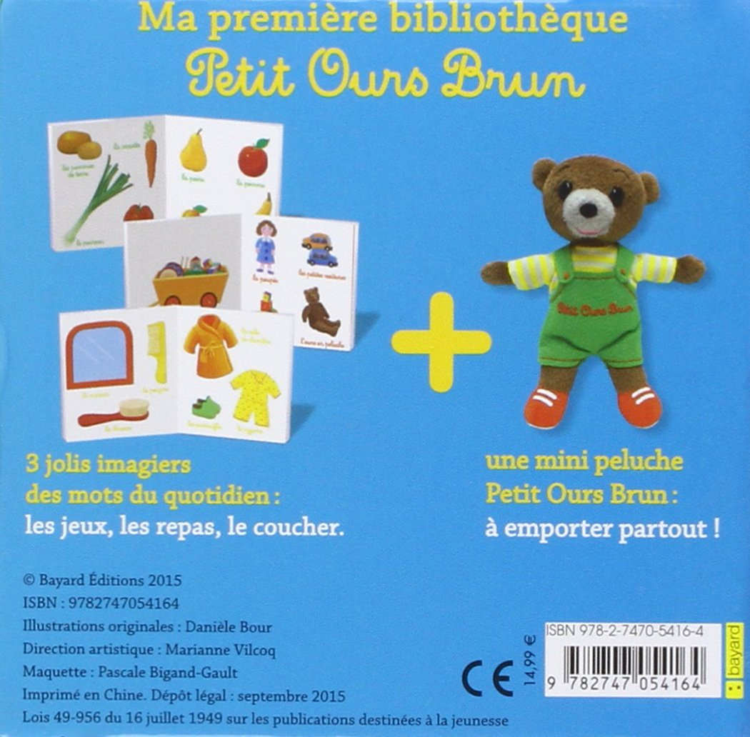 Ma premiere bibliothèque avec Petit Ours Brun (French Edition): Daniele Bour: 9782747054164: Amazon.com: Books