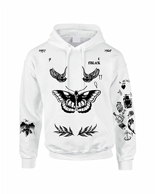 c8c3f08338da Allntrends Adult Hoodie Sweatshirt Harry Styles Tattoo 1D Styles 94 ...
