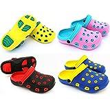 Fashion&Joy Typ429 Sabots d'été pour enfant avec bride au talon et semelle profilée Protection des pieds Avec aération Chaussures de jardin/bain, sandales, chaussons, mules, pantoufles, Caoutchouc, Gelb - Grün, EUR 31