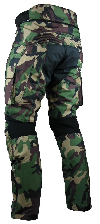 HEYBERRY Sportliche Motorrad Hose Motorradhose Camouflage Gr/ün Gr 7XL