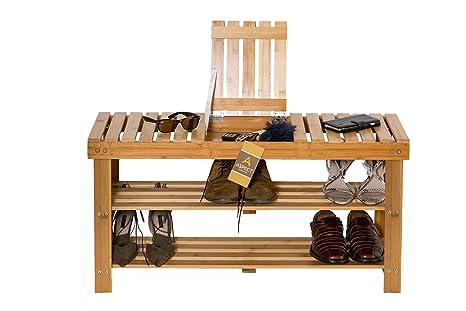 Aspect scarpiera o sgabello a tre ripiani in legno mdf x