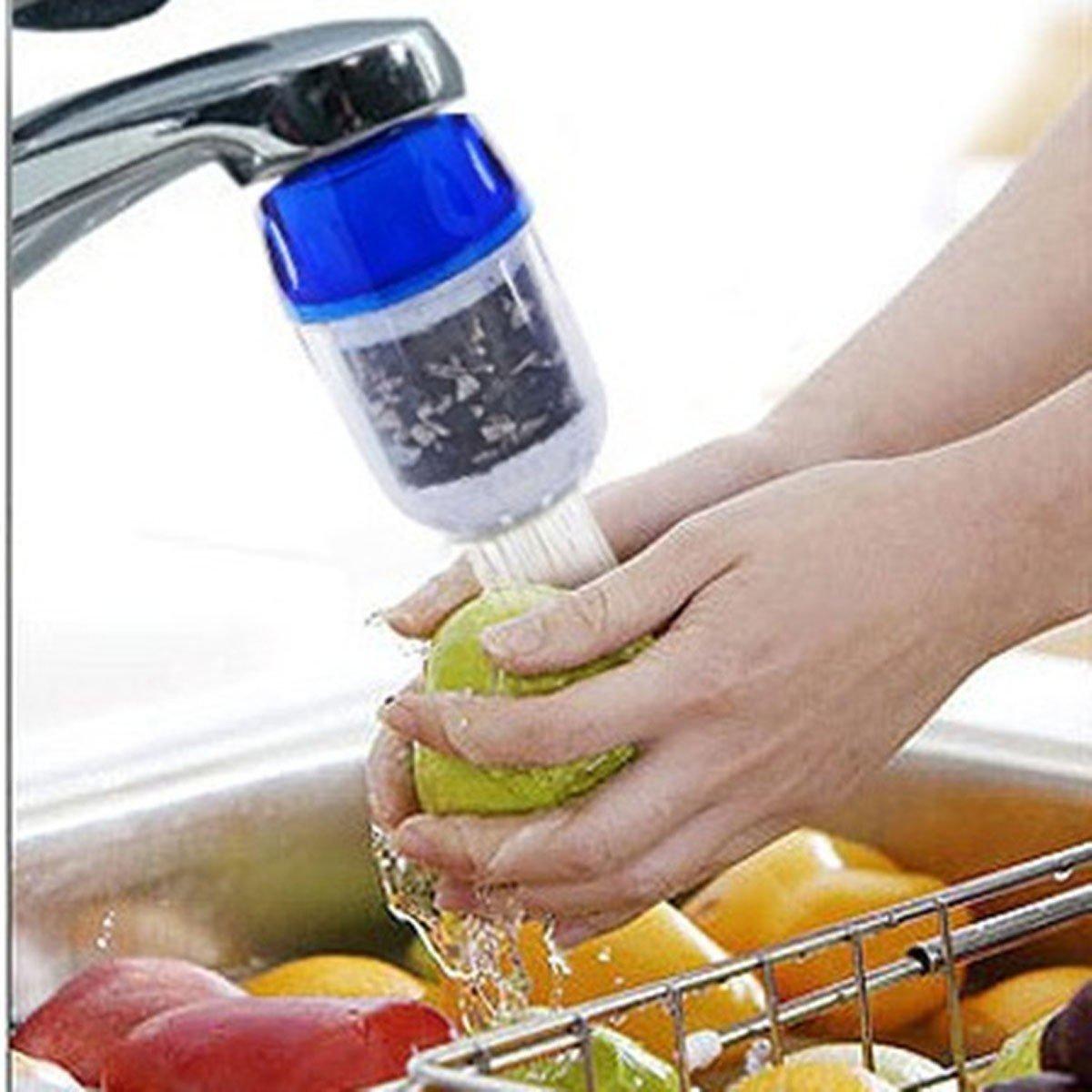 Vinallo Lot de 2/mini Charbon actif M/énage Maison Outil de robinet de cuisine purificateur deau propre cartouche de filtre de filtration robinet