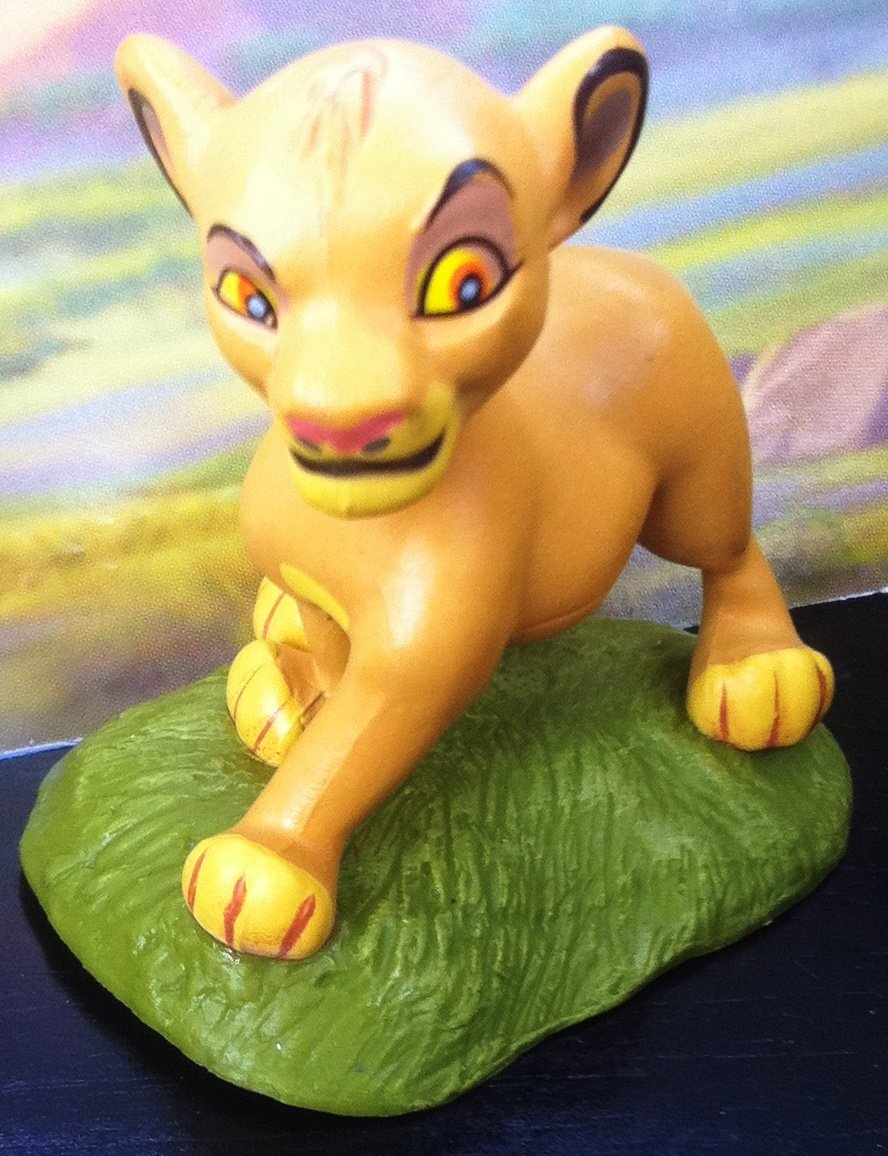 2'' Disney Lion King Baby Simba Figure Cake Topper Party Favor Doll Toy, Style May Differ by disney