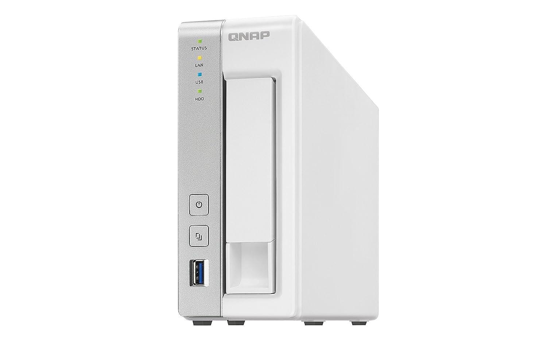 QNAP TS-231P - Dispositivo de Almacenamiento en Red NAS (Alpine AL-212, 1 GB RAM, 3 x USB 3.0, SATA II, Gigabit), Blanco 156432