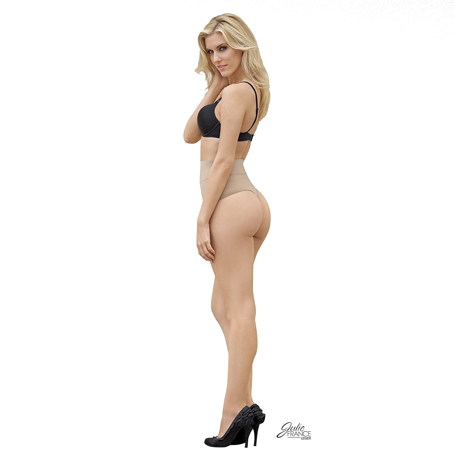 1f277084cbc0 Julie France Ultra-Firm Control Shaping Thong Plus Size, 2X, Nude at Amazon  Women's Clothing store: