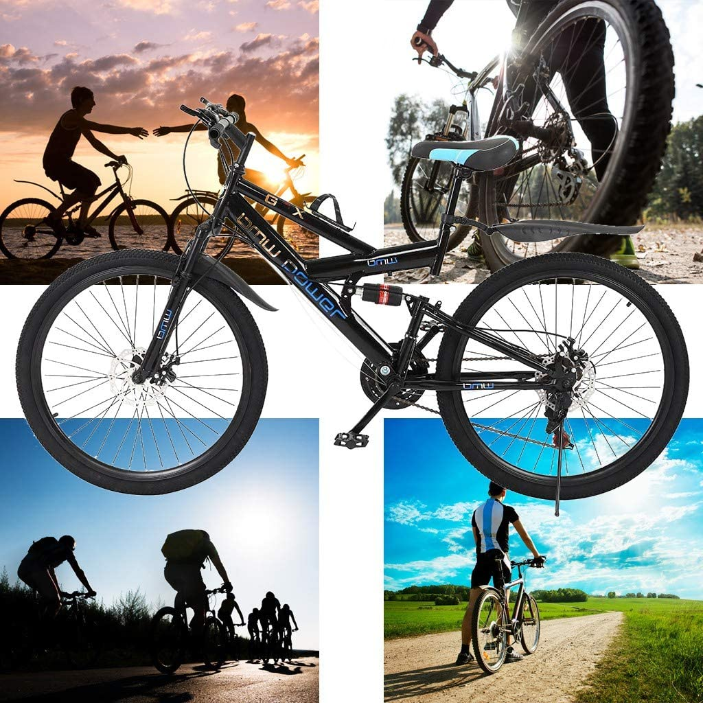 Lroplie Adult Mountain BikesR2 Commuter Aluminum Road Bike 21 Speed Bicycle Full Suspension MTB 26in Carbon Steel Mountain Bike Made in America