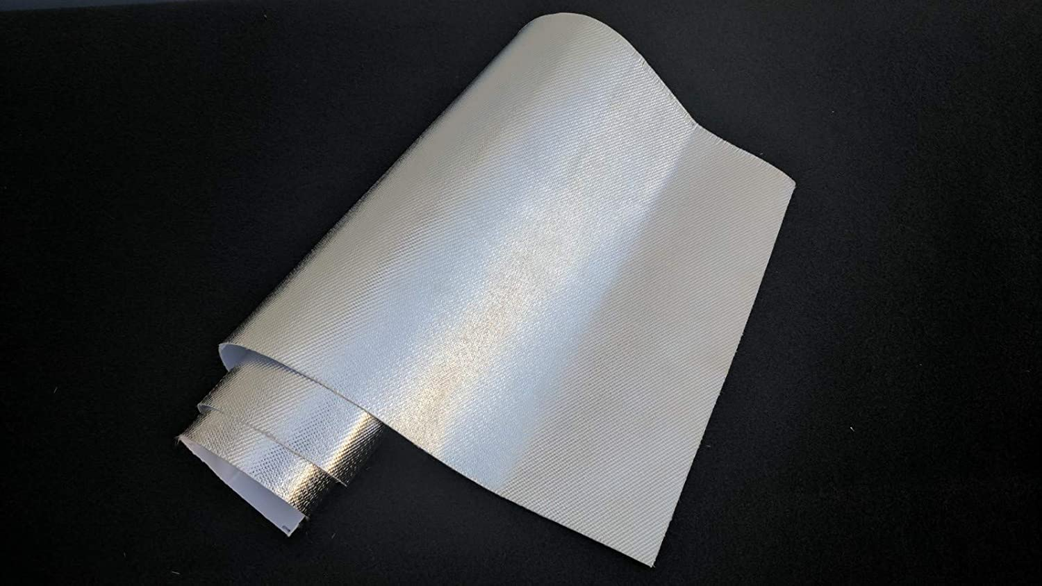 Aluminum Heat Shield Protection with Fiberglass and Self-Adhesive Backing Heat Barrier (1 Sq Foot)