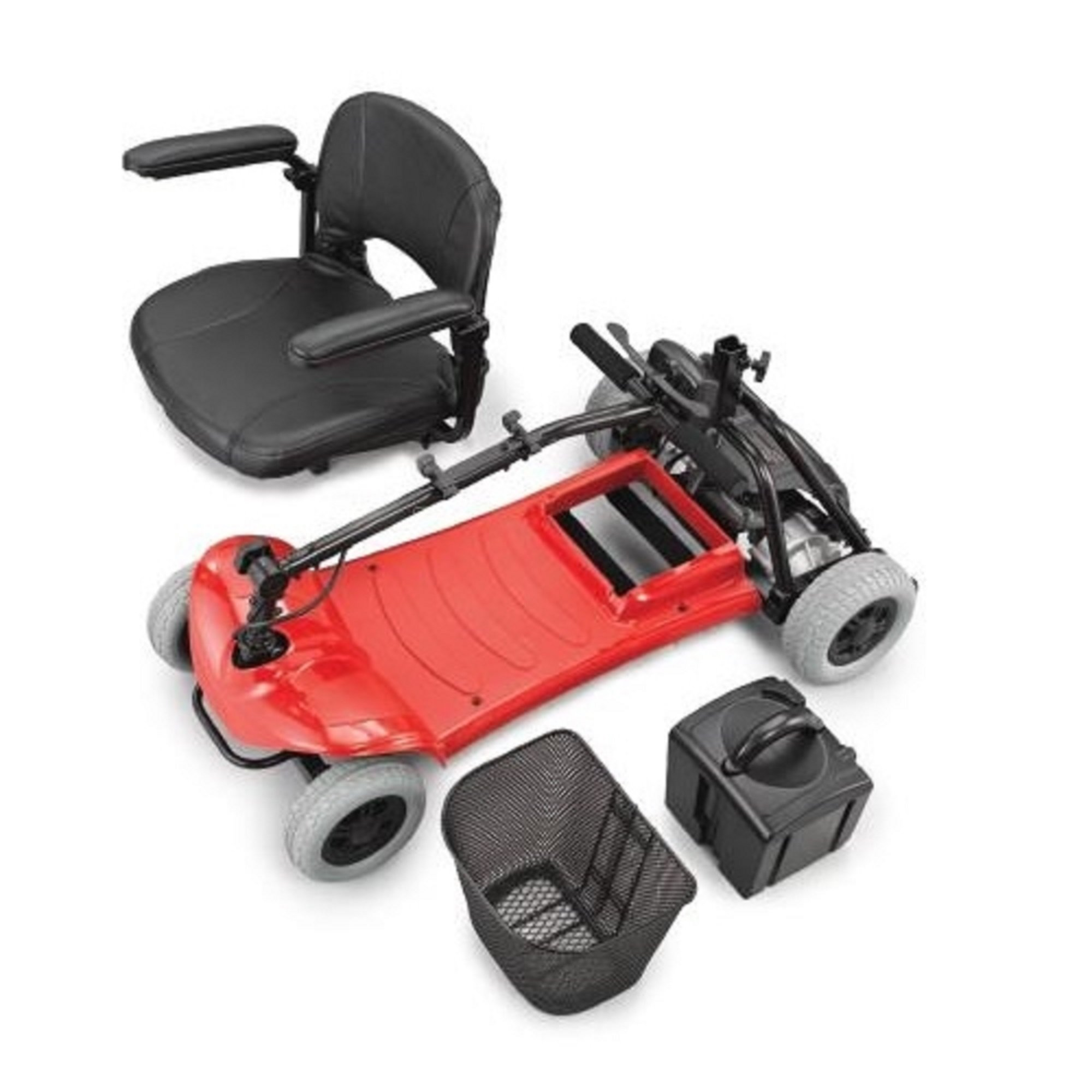 Merits Health Products - Roadster - 4-Wheel Scooter - 15''W x 15''D - Red by Roadster (Image #2)