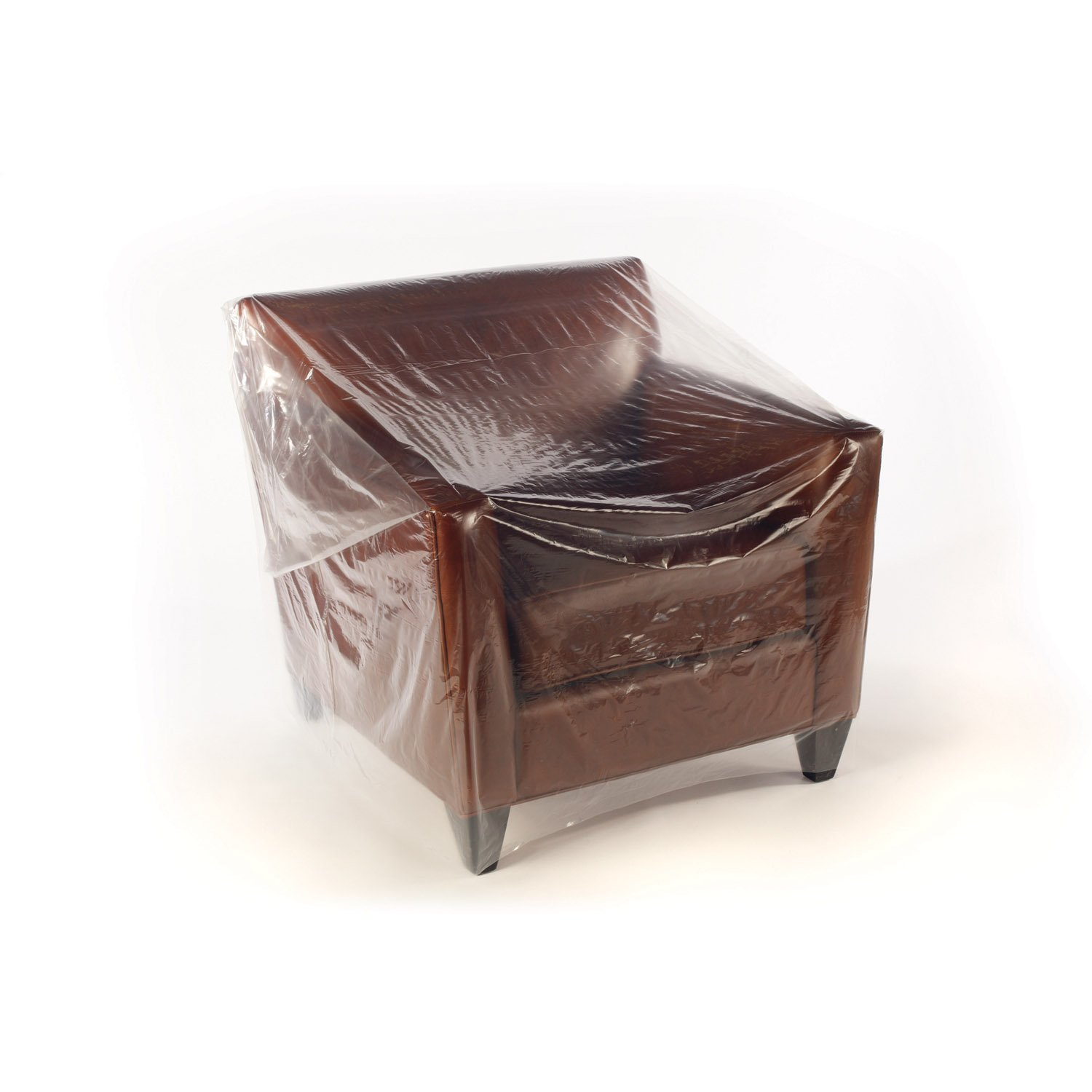 70'' x 45'' x 1 mil Clear Eco-Manufactured Plastic Furniture Covers (Roll of 215)