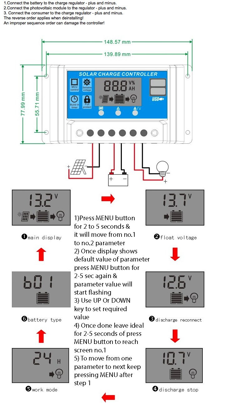 Series Parallel Wiring For Battery Charging Do You Have Low Wind And Sparkel 12v 24v 10a Digital Solar Charge Controller With Dual 5v Usb Ports Dusk To Dawn Feature Control Dc Lights In Auto Mode