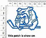 Bulldog Pitbull Dog Pet Sports Golf Clubs Cartoon