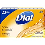 Dial Antibacterial Deodorant Gold Bar Soap, 4 Ounce (Pack of 22) Net Wt 5.5 LBS