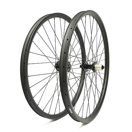 FidgetGear 27.5er Ruedas de Carbono para Bicicleta de montaña, 35 mm de Ancho,