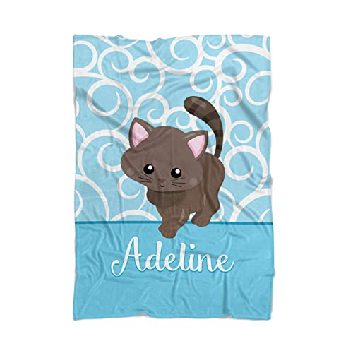 b2b49c9181c4 Image Unavailable. Image not available for. Color: Cat Throw Blanket - Pink Kitty  Cat Personalized ...