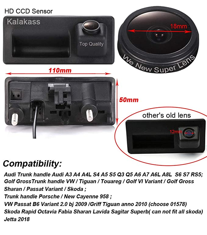 Ingenious Hd Reversing Camera For Cayenne Audi A4 A4l A6 A6l A7 A5 Q7 Q5 Q3 Rs5 Rs6 A3 A8l Rear View Monitors/cams & Kits