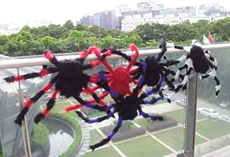 75 cm Grand Peluche De Araña De Juego - Negro y Rojo: Amazon.es: Juguetes y juegos