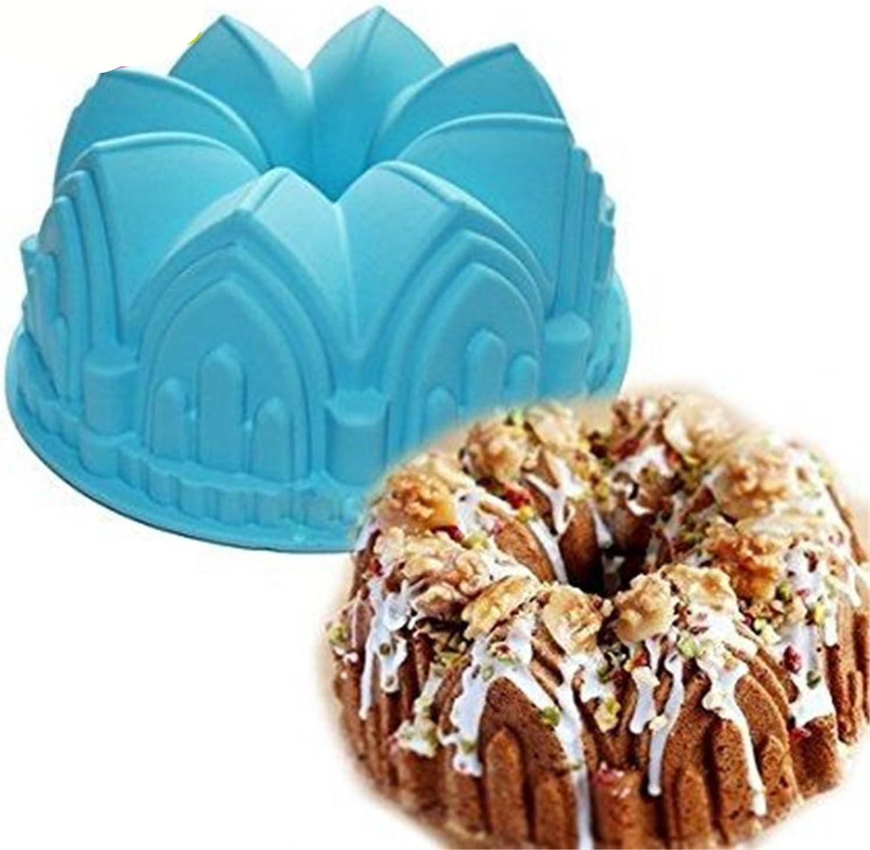 Premium Antiadherente Moldes para tartas, FantasyDay Moldes de Silicona para Caramelos, Chocolate, Hornear, Tarta, Galletas, Jabón, Hielo - ...