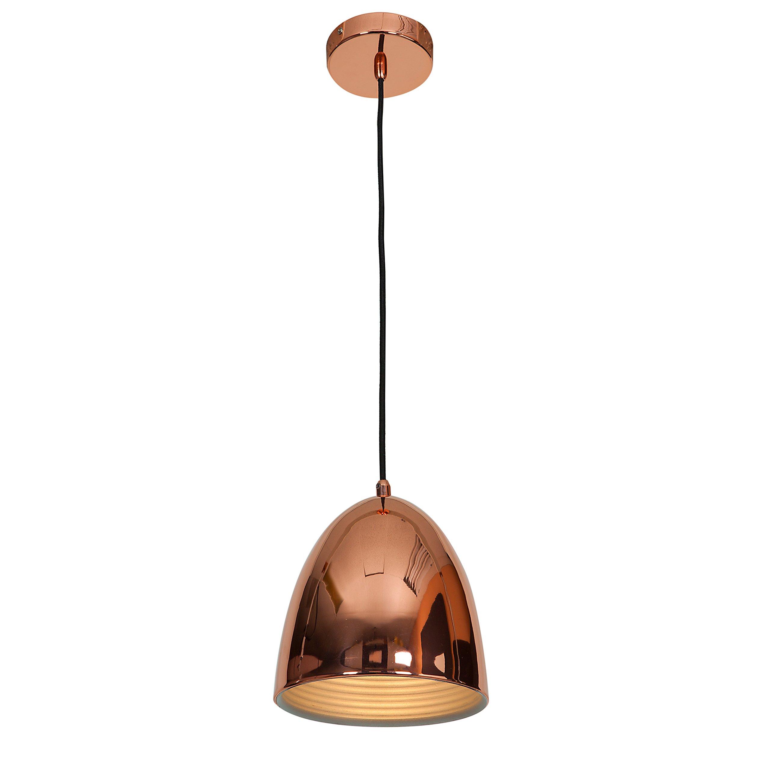 Access Lighting 28090-SCP Essence One Light 8-Inch Diameter Dome Pendant Finish, Shiny Copper
