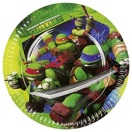 8 platos de cartón 23cm tortugas ninjas mutantes ...