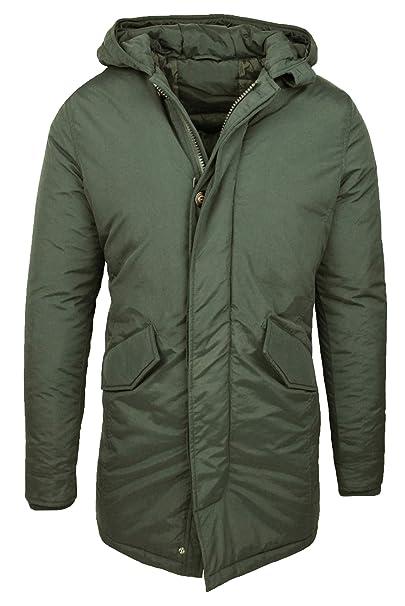 timeless design 86754 8216a Evoga Parka Uomo Invernale Verde Cappotto Giacca Slim Fit ...